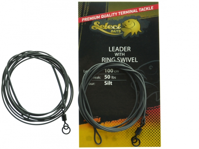 Select Baits Leader with Ring Swivel