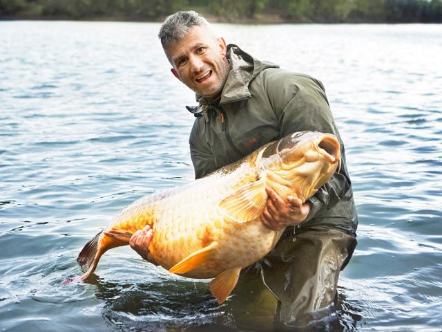 Big carps reward for hard working and skilled angler Andrei